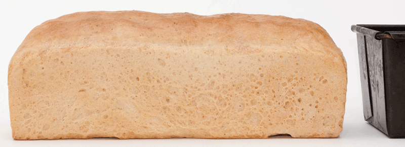 zijaanzicht brood albert heijn tarwebloem basic wheat flour
